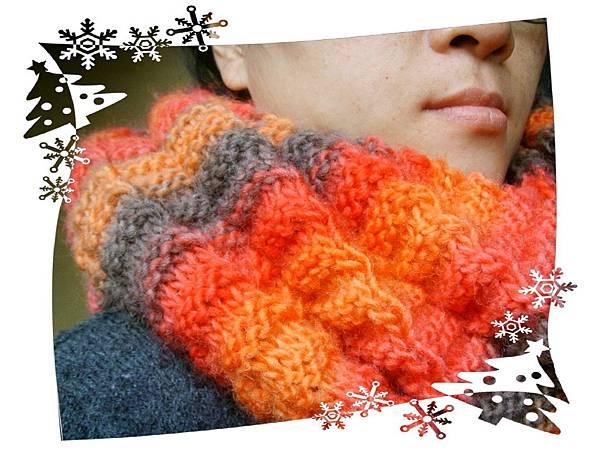 聖誕紅等波長脖圍 Armonika Cowl