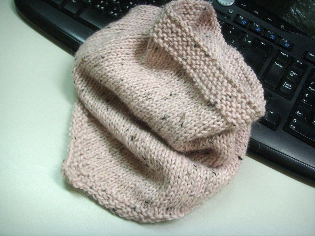 Pink Bandana Cowl 頭巾形脖圍