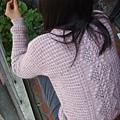 開襟圓領波浪麻花背心--長袖版