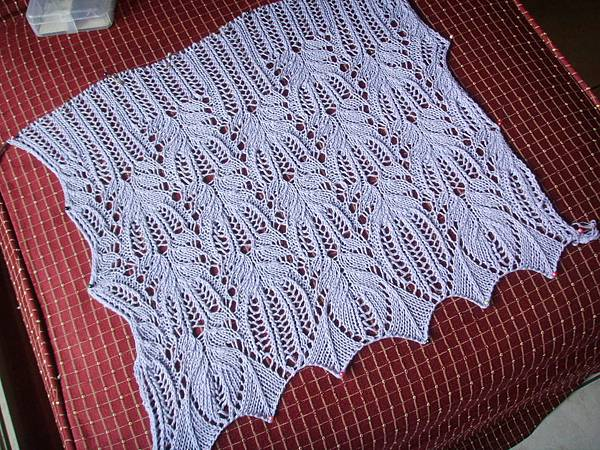 Panna Frost Flower Lace Shawl -ing