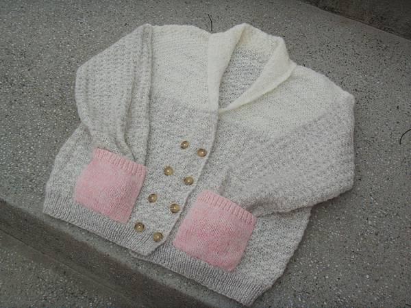 粉可愛口袋外套