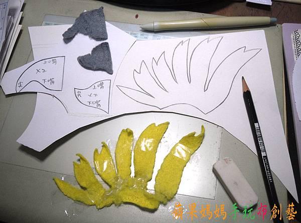 鸚鵡冠、嘴製圖
