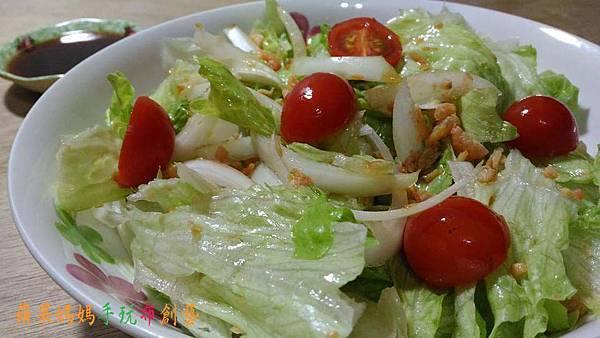 自製蝦味時蔬沙拉