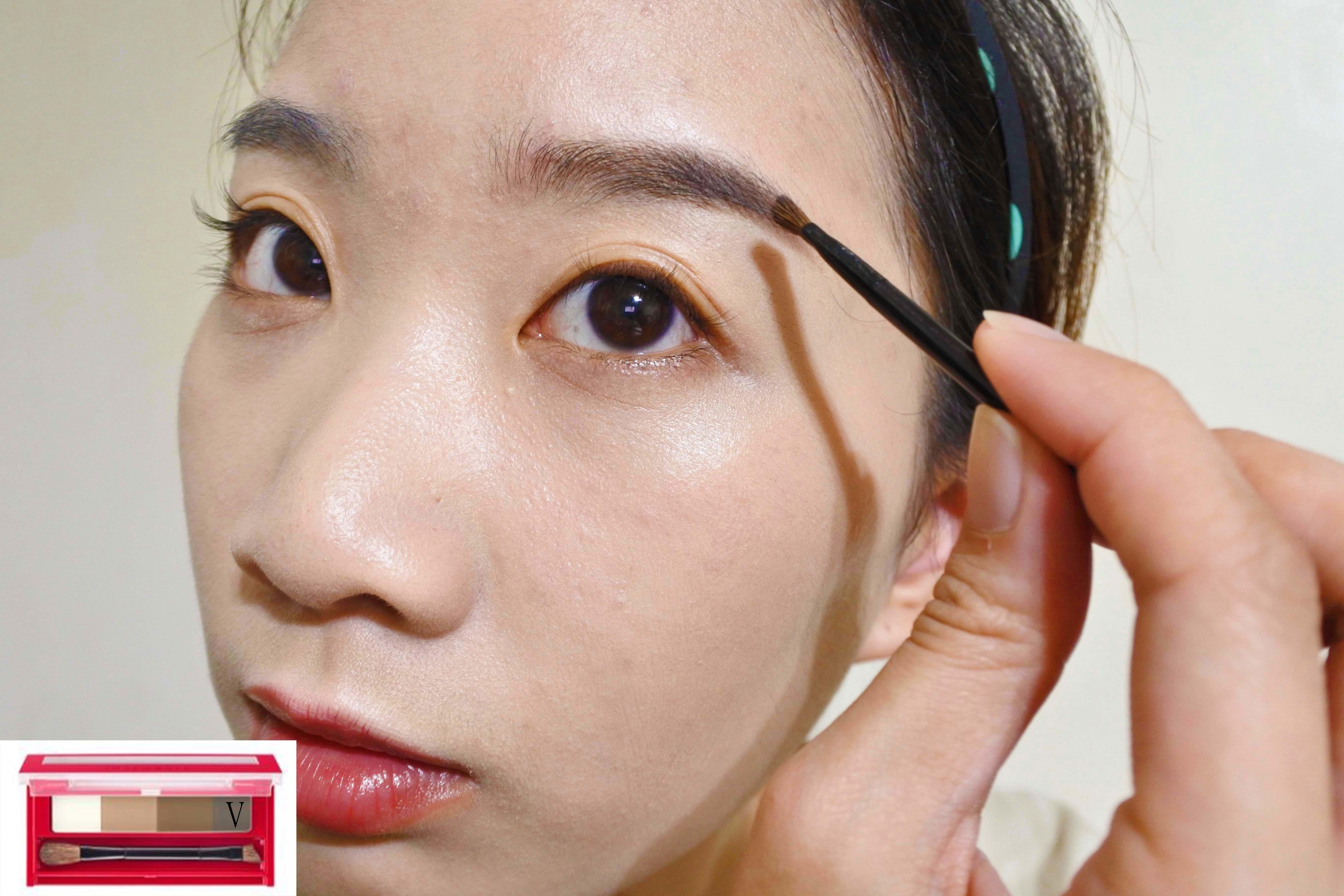 INTEGRATE 櫻特芮 極致立體四色眉粉盒 使用 BR631