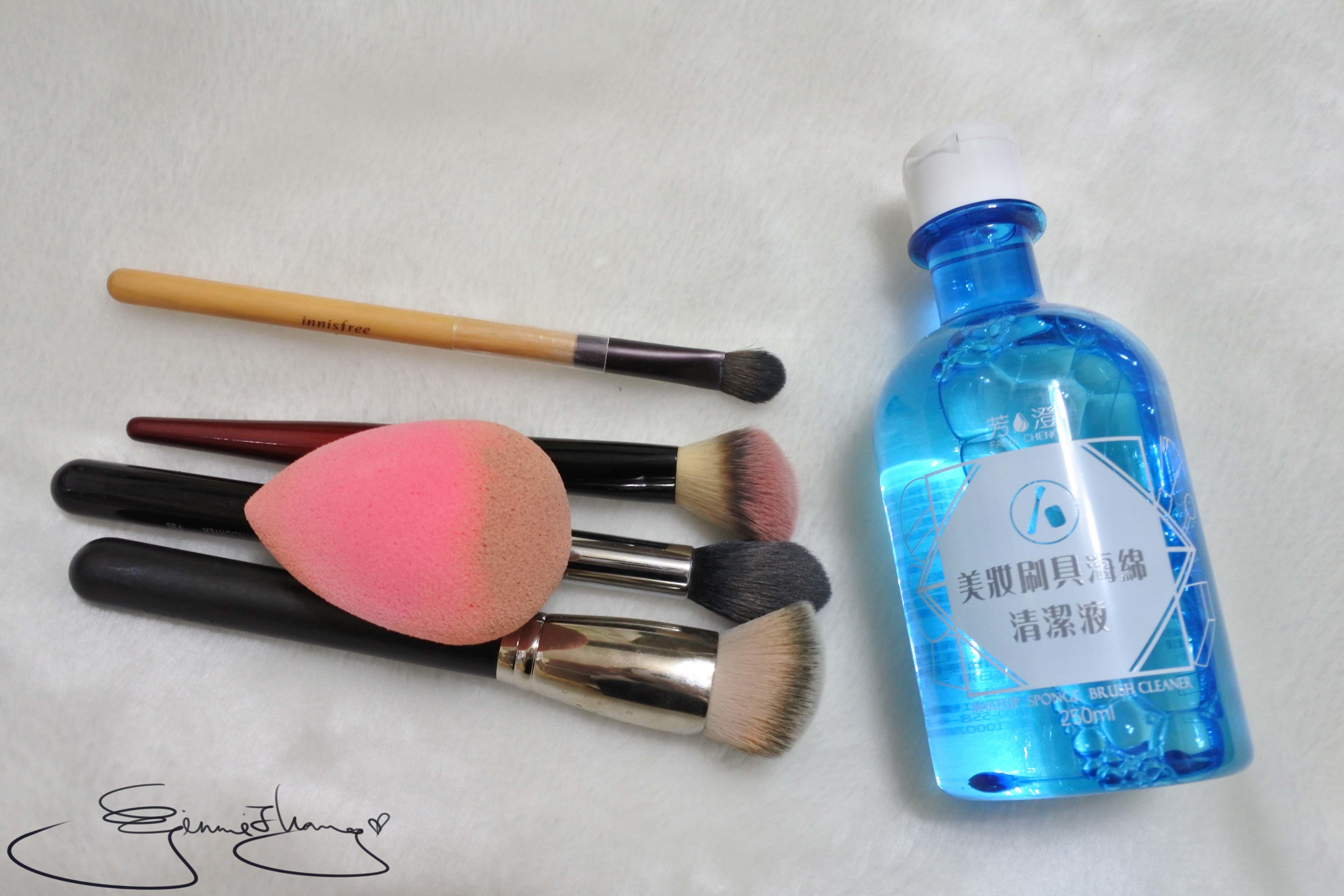 芳澄 美妝刷具海綿清潔液 刷具海綿清潔測試