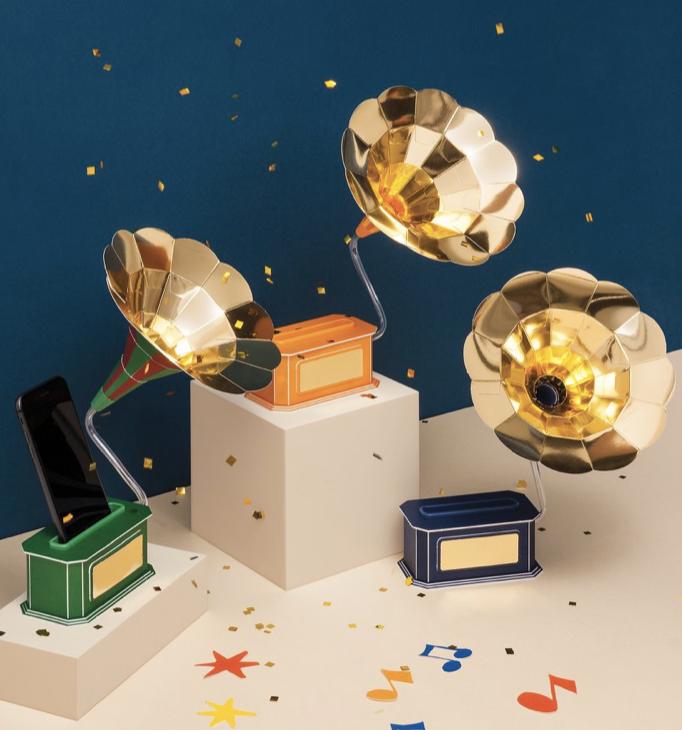 innisfree 2019 DIY禮盒紙作音樂擴音器