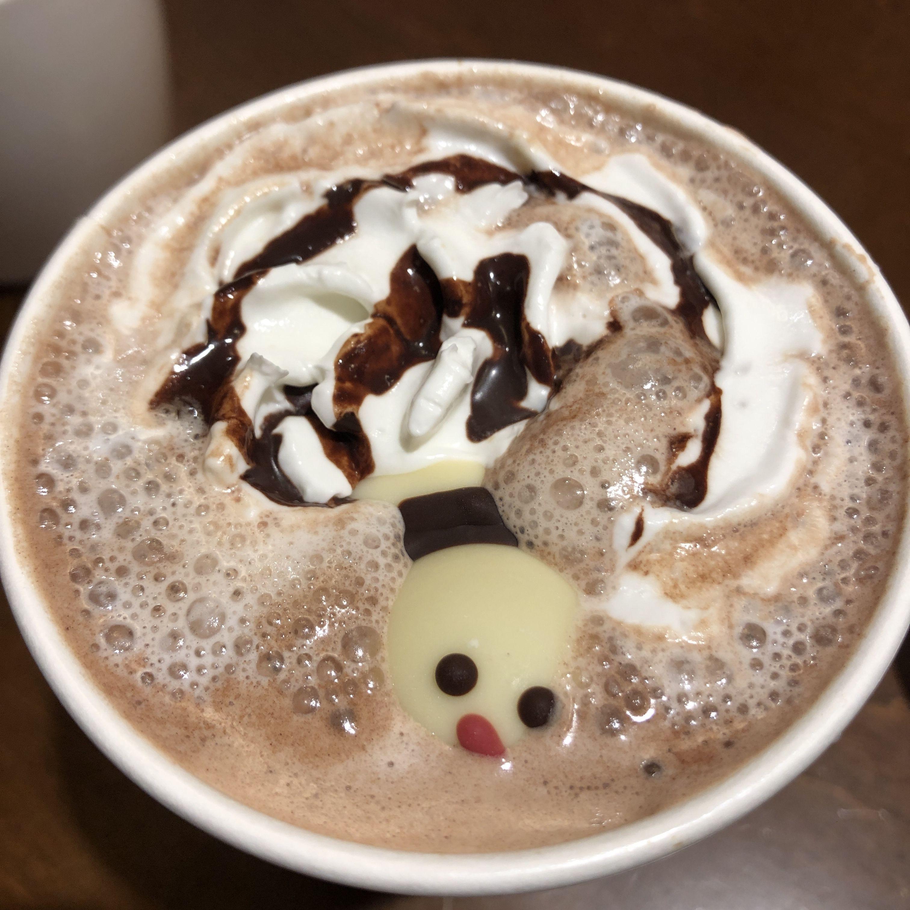 星巴克 耶誕雪人巧克力那堤