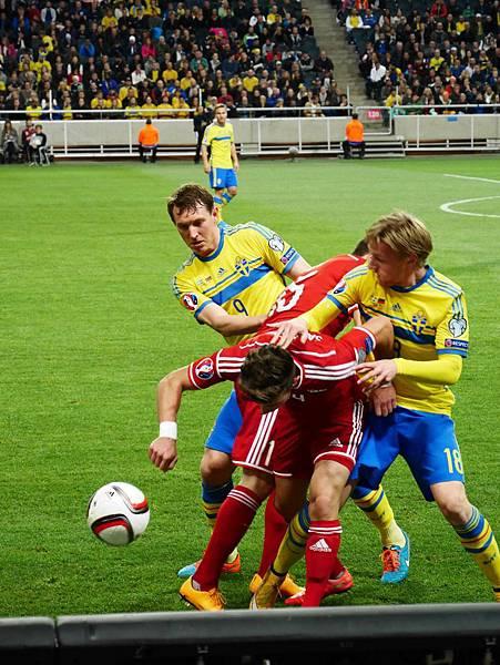 結果還是到Friends Arena看瑞典國家隊!完成夢想