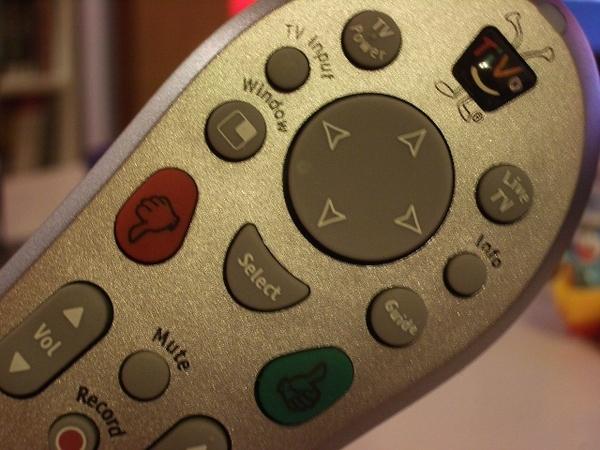 TiVo 遙控器的select