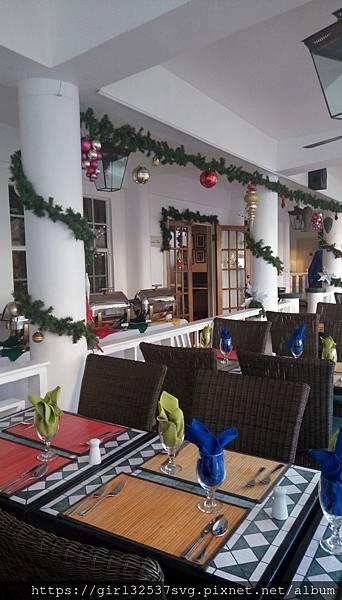 餐廳的聖誕裝飾