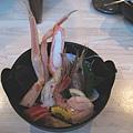 第一天晚餐的蟹腳