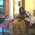 入口處放的大熊