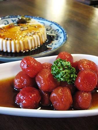 燻梅釀蕃茄、花生的豆腐腦 (2)