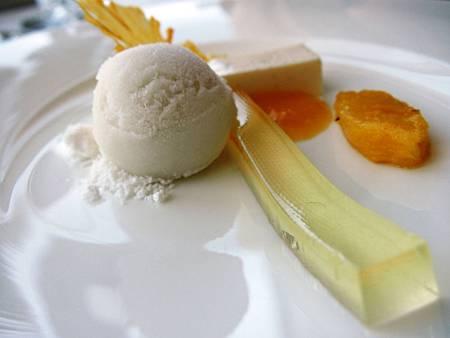 香茅冰淇淋、分子化椰子油