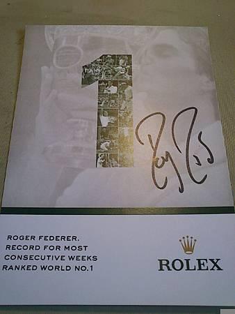 Federer 簽名明信片 (2)