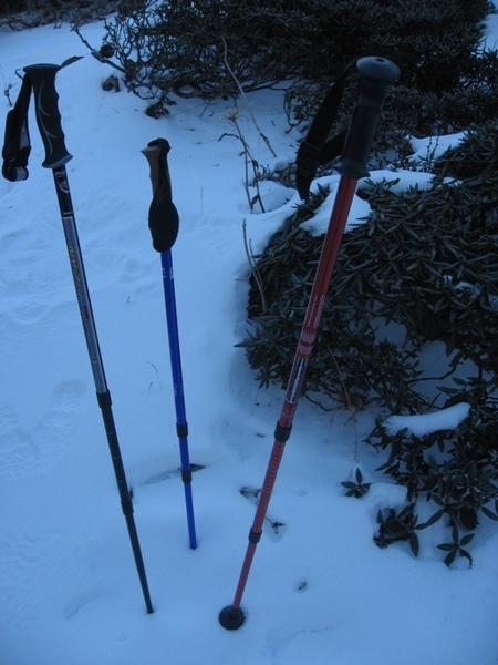 大家的登山杖,紅色是我的
