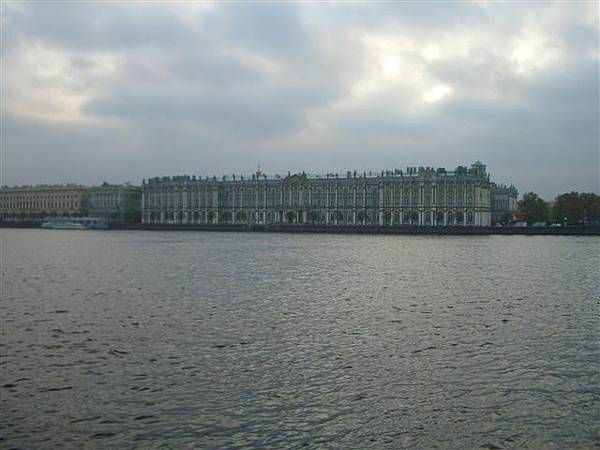 on the bank of river neva