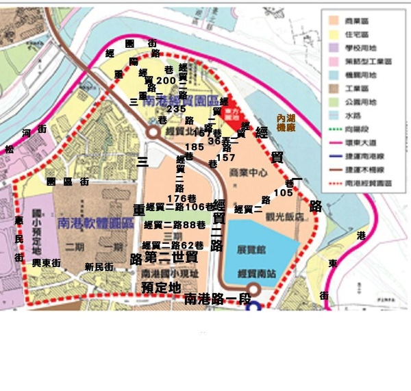 南港經貿園區地圖