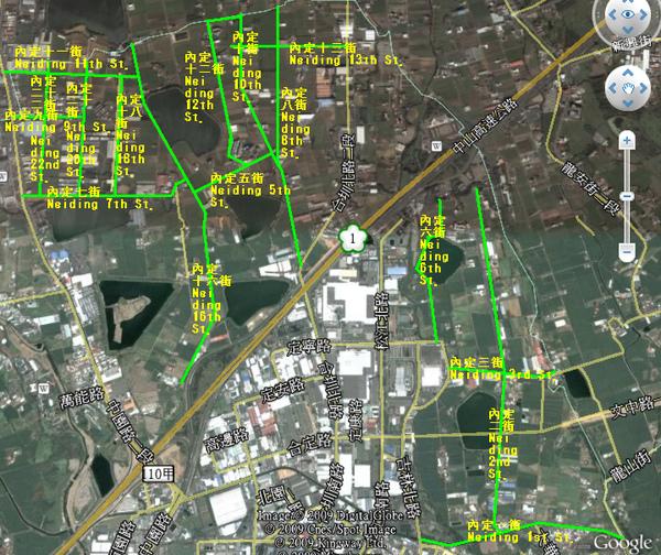 內定里 內定一~二十二街地圖