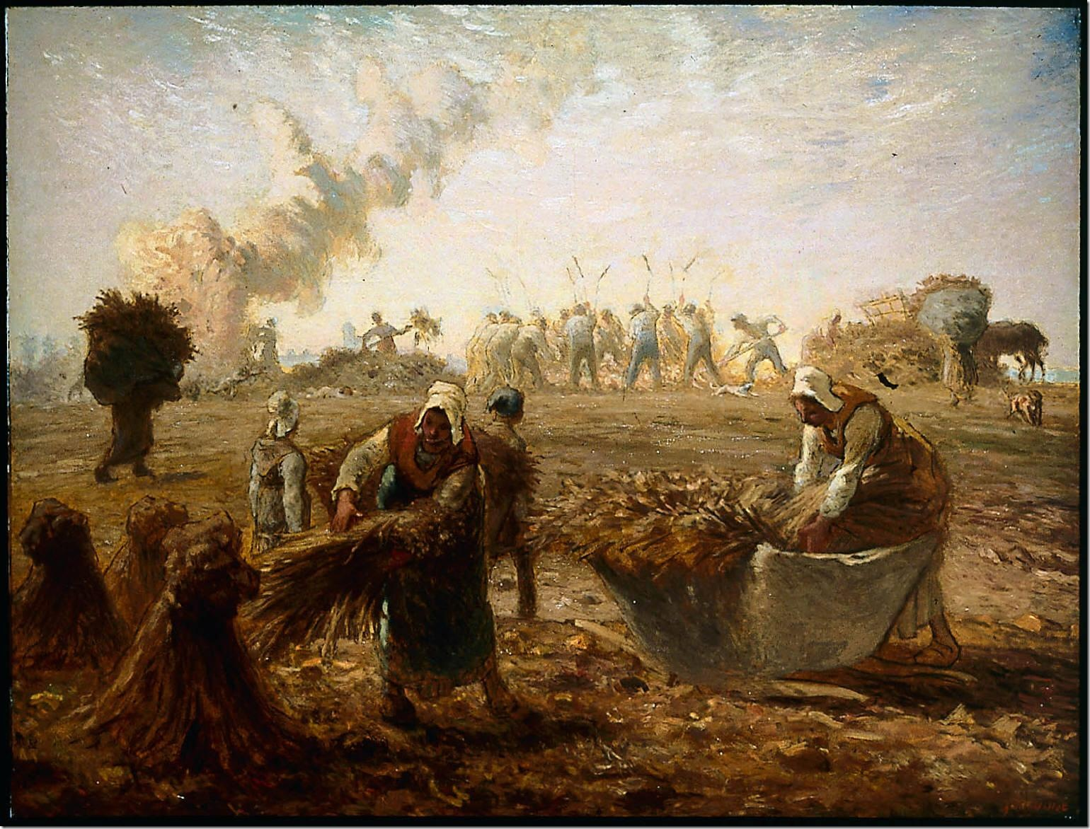 Jean-François-Millet-Buckwheat-Harvest,-Summer-1868-74-painting-artwork-print