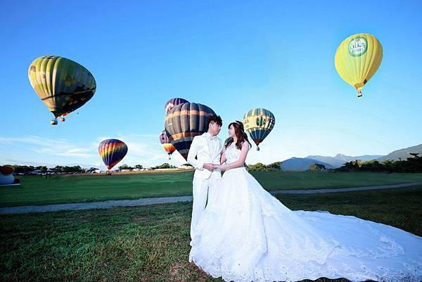高雄自助婚紗新人(恰靜)大力推薦-台東熱氣球婚紗攝影