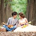 高雄韓風婚紗攝影風格推薦-綠樹花海鄉村風