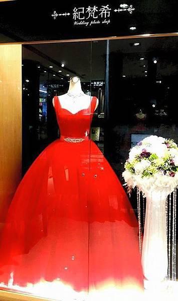 高雄自助婚紗禮服推薦-紅色晚宴禮服