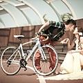 高雄自助婚紗新人 Tony 和coco 單車運動風婚紗推薦: