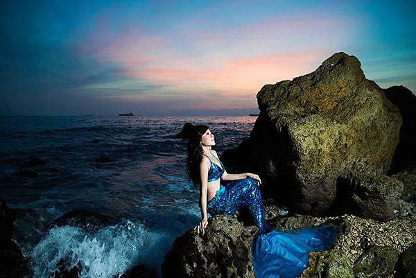 高雄屏東婚紗創意:美人魚婚紗