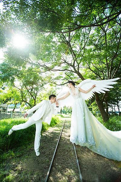 屏東婚紗工作室推薦創意:天使之戀