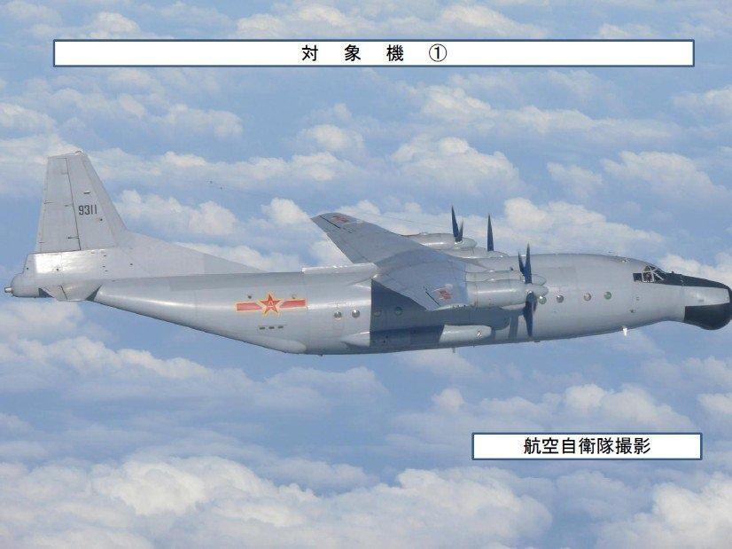 4架中國軍機同一天越過沖繩飛向太平洋