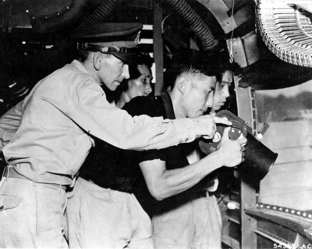 Capt Azra Judd Sub-Lt. Wei-Ta-Ming Sgt. Fu-Yiu-Lum Sgt. Yen Shi China Oct 1944.jpg