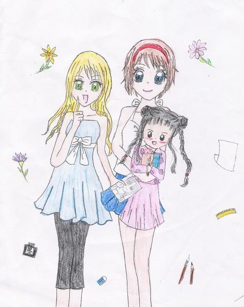 三人組〈色鉛筆〉