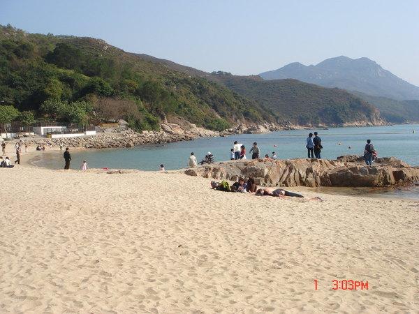 南ㄚ島白沙灘,天氣很美
