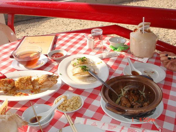 南ㄚ島下午茶,我點了賴尿蝦,砵酒蠔,蝦,海蝸牛