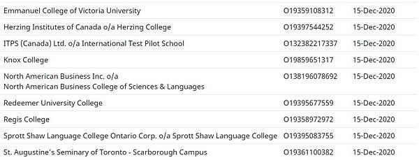 加拿大留學生豁免入境院校名單出爐 4