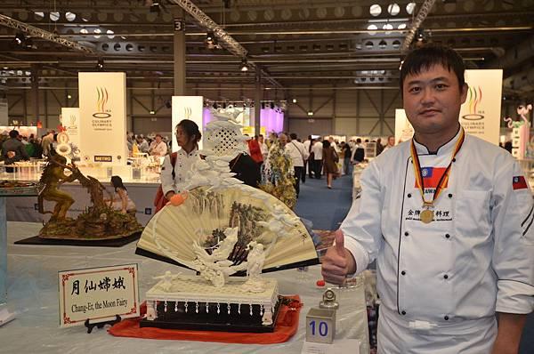 張晉華-嘉義川菜餐廳-蔬果雕-月仙嫦娥-金牌.JPG
