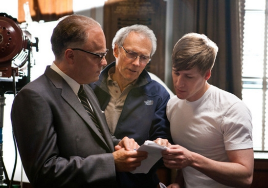 tn_LEONARDO-DiCAPRIO,-director-CLINT-EASTWOOD-and-writer-DUSTIN-LANCE-BLACK-during-the-filming-of-J.-EDGAR