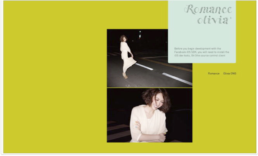 亞洲美聲歌姬 Olivia Ong 2011全新創作專輯『Romance』