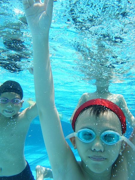 搶著要在水底拍照