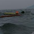 """那天天氣差,海象也不怎麼好,龜山島其實看不清楚><"""""""
