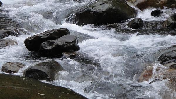 宜蘭很常下雨= = 那天當然也不例外,所以水量很多