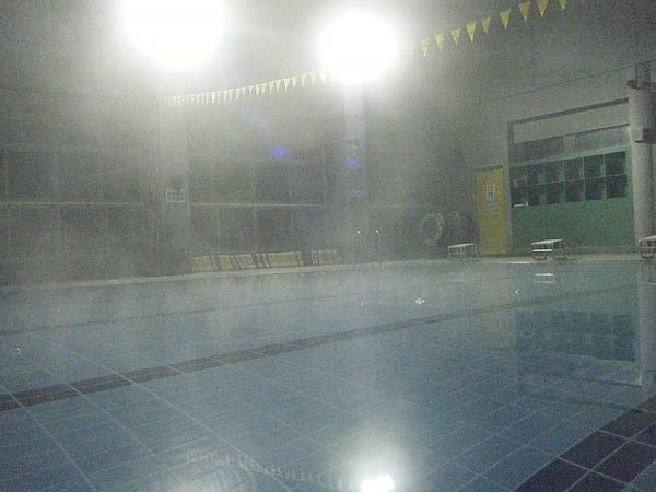 因為整個泳池都啥人,水溫又暖和~這時候來游可是VIP喔!