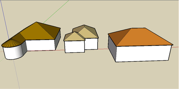 Sketchup _Roof 屋頂快速建立