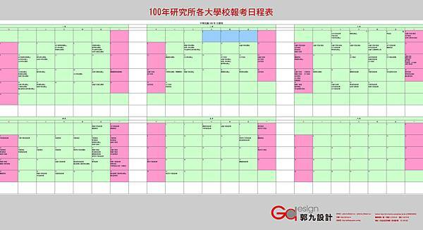 100年研究所各大學校報考日程表1216更新.jpg