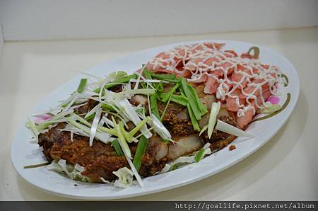 鹹豬肉_蟹肉棒冷盤