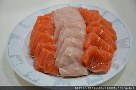 鮭魚旗魚生魚片