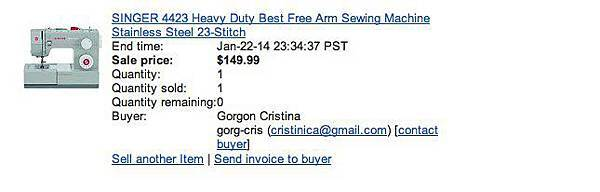Your eBay item sold! SINGER 4423 Heavy Duty Best Free Arm Sewing Machine Stainless Steel 23-Stitch (171208053209) - gobby0515@gmail.com - Gmail-1.jpg
