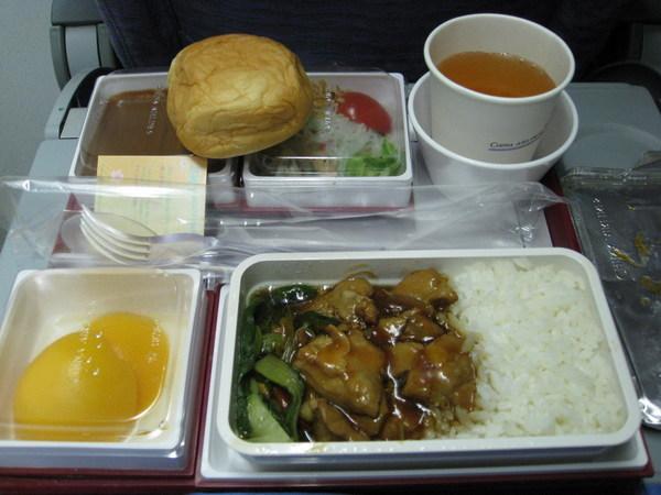 機上餐雞肉飯(1)