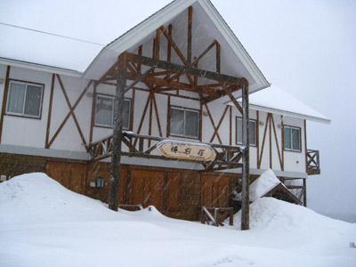 終於看到日本電視台內的小木屋載雪的感覺